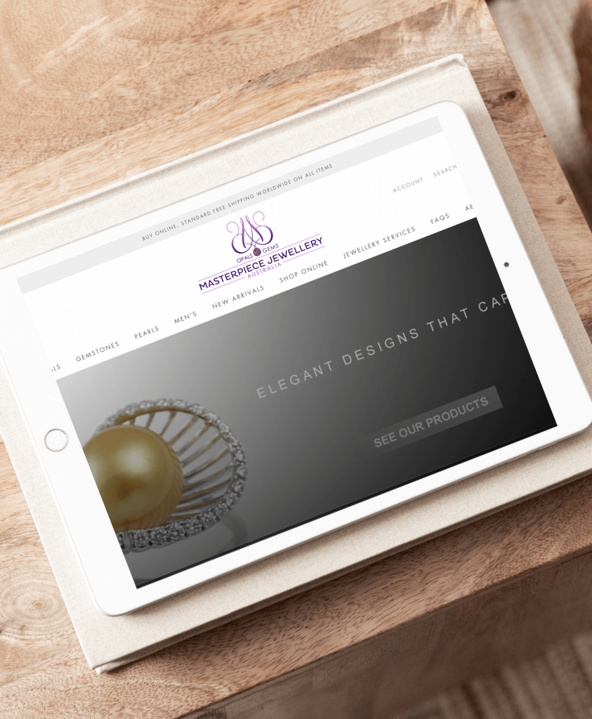 Results and Co Client Portfolio MasterPiece Jewellery iPad
