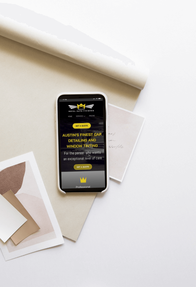 Results and Co Client Portfolio Template Royal Auto Finishes iPhone